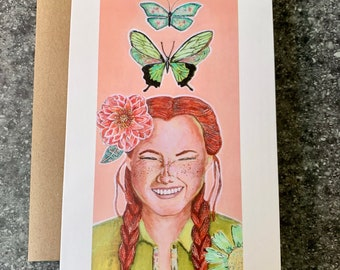 Float Like a Butterfly Blank Greeting Card I Blank Note Card