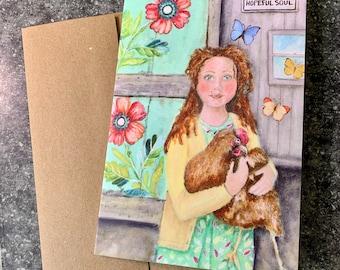 Hopeful Soul Blank Greeting Card I Blank Note Card