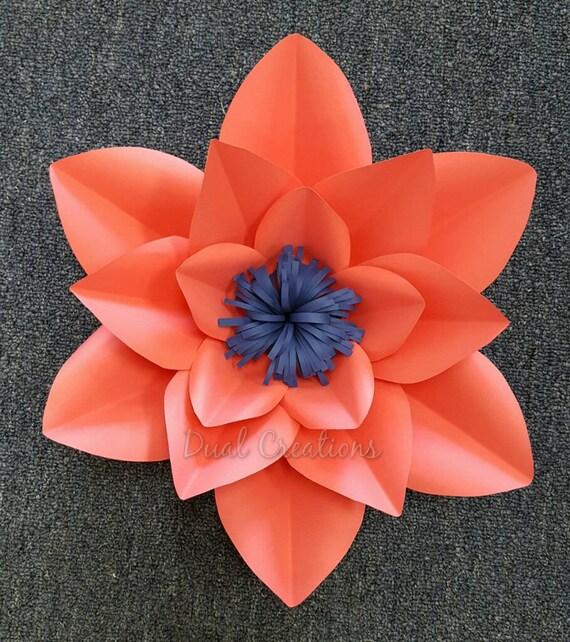 Hard copy paper flower template etsy image 0 mightylinksfo