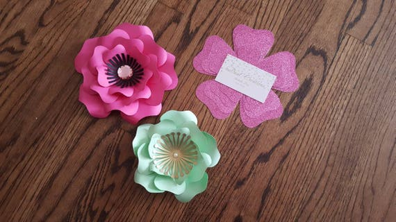 Small Paper Flower Templatepaper Flowers Templatefree Etsy