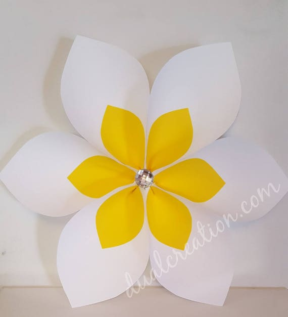 daisy flower template png jpg and pdf paper etsy