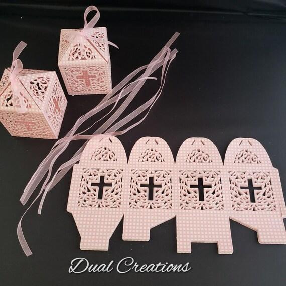"25 Personalized Ribbon 1//4/"" 3//8/"" Baptism Communion Quinceañera Recuerdos Bautizo"