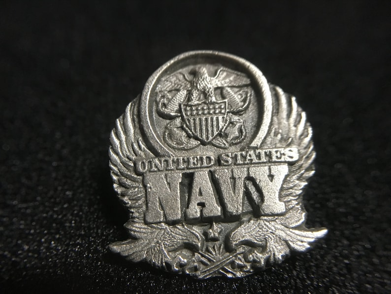 Made in USA Vintage 1990s United States NAVY Siskiyou Pewter Pin