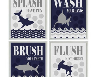 Shark Bathroom Etsy