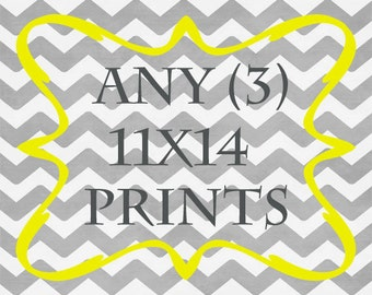 Any (3) 11x14 Prints - ANY prints from Rizzle And Rugee