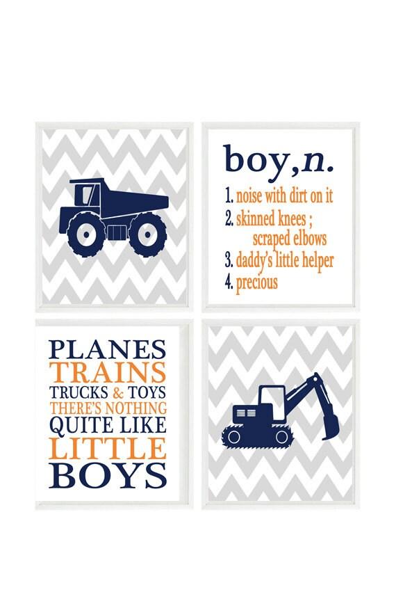 Truck Nursery Art Boy Definition Noise With Dirt On It Etsy