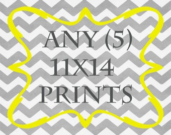 Any (5) 11x14 Prints - ANY prints from Rizzle And Rugee