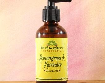 Lemongrass and Lavender Massage Oil (120ml)