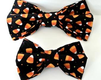 Candy Corn Dog Bow Ties - Halloween Bowtie