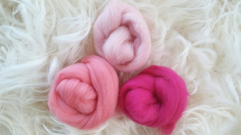 Diamond White Wool Top Roving Fiber Spinning Felting Crafts USA 8oz