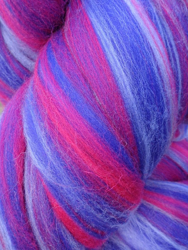 9cf0119c8dedb 4 oz Wild Berry 23 micron soft Merino Blend Wool Top Roving Fiber Spinning,  Felting , weaving, dolls, Crafts USA -SALE!
