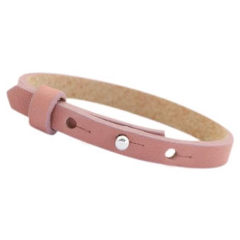 Leather strap simple vintage pink image 0