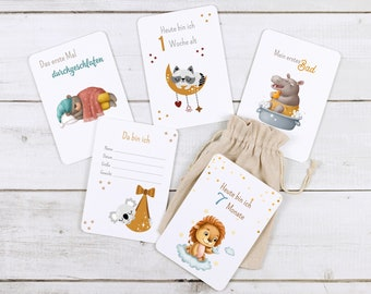 Milestone cards for babies' first year