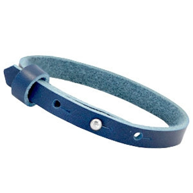 Leather strap simple Jeansblue image 0