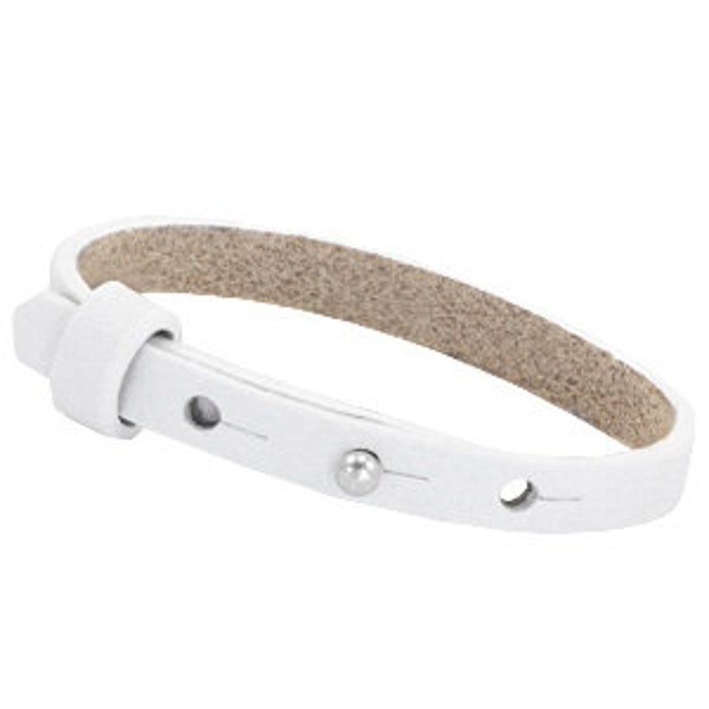 Leather strap simple white image 0