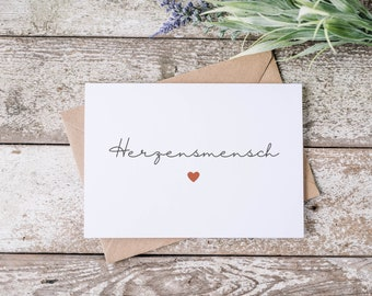 Postcard - Greeting Card - Heart Person