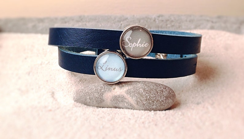Leather bracelet with desired name image 0