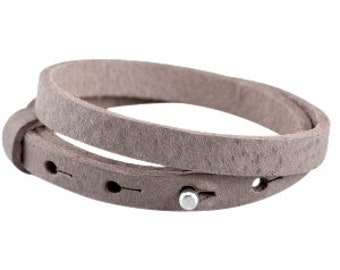 """Leather strap double """"terra brown"""""""
