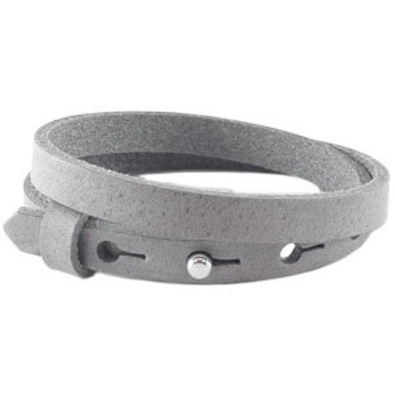 Leather strap Graphite Grey image 0