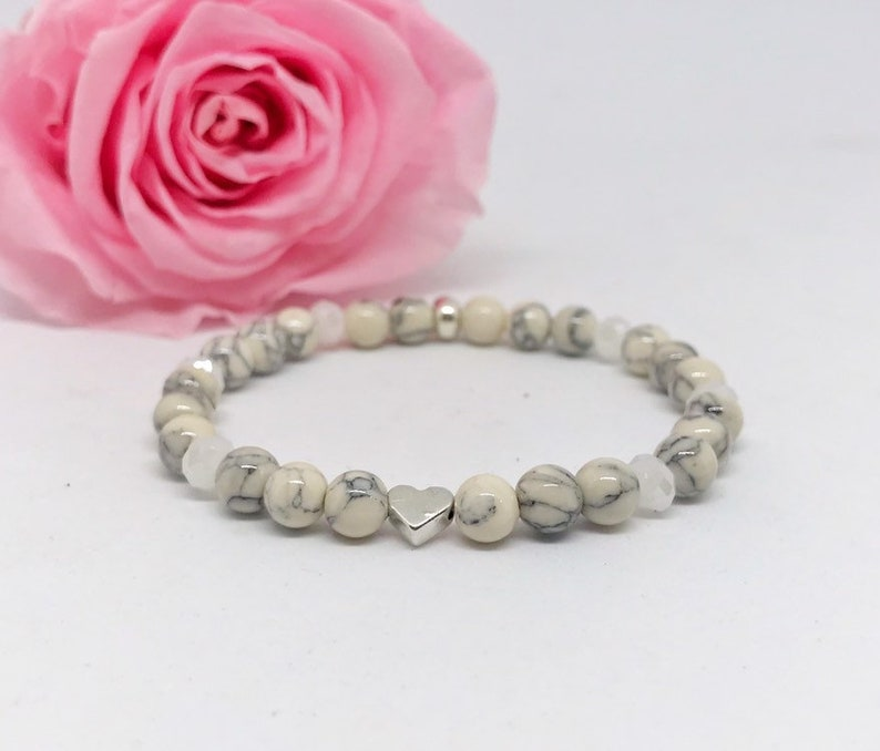 Beaded Bracelet Beige/White Mamoroptik image 0