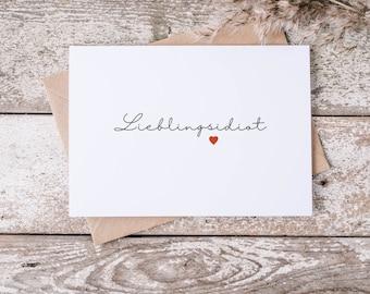 Postcard - Greeting Card - Favorite Idiot