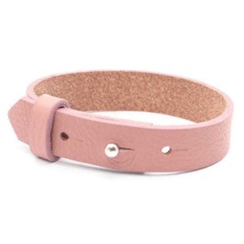 Leather bracelet wide old pink image 0