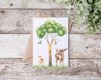 Postcard - Greeting card - Animals
