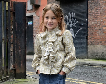 Girl's Pattern - Florence Blouse PDF Pattern and Tutorial. Sizes 2T to 10Y