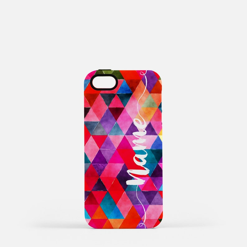 Colorful Personalized Tough Cell Phone Case Abstract Pink image 0