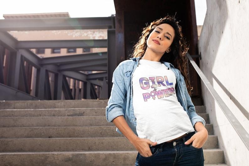 Feminist Shirt Girl Power Shirt GRL PWR Feminist Gift image 0