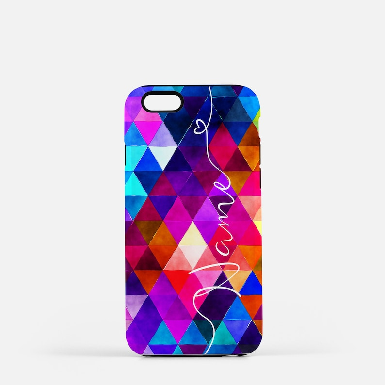 Personalized Phone Case Custom Phone Case Blue and Purple image 0