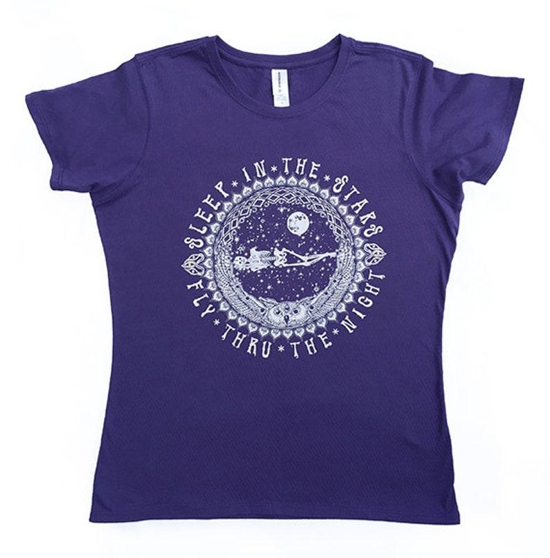 a7ed68b15c270 Dormir dans les étoiles Iris bio couleur T-Shirt Grateful