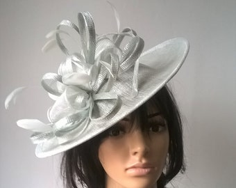 a06cd43092d7b Marianne Stunning Sinamay Shaped disc Fascinator with double swirls  loops..wedding