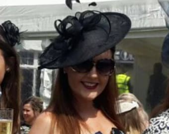 Jessica..Black Feather Fascinator..Stunning shaped Fascinator on a Headband..