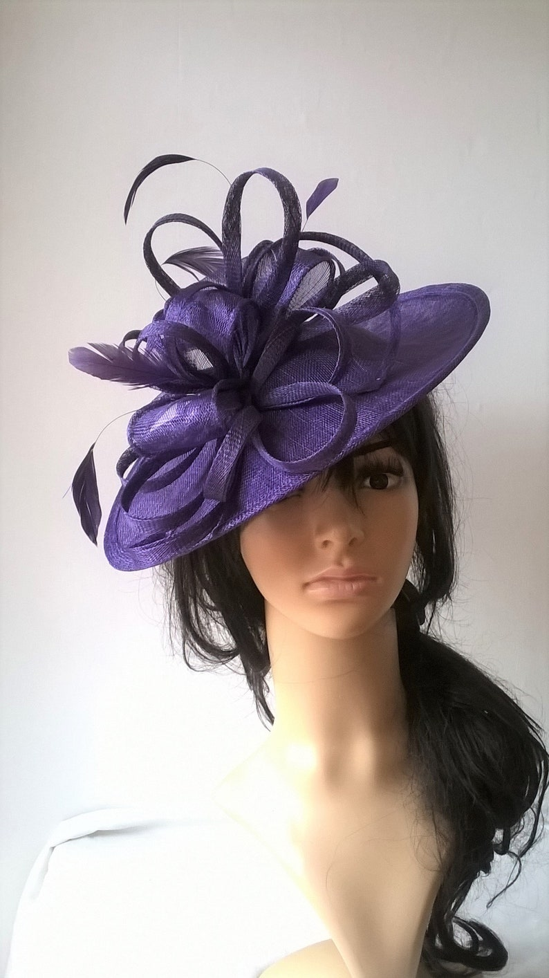 7f989f44baffc Marianne Purplevio Fascinator.Stunning Purple Sinamay