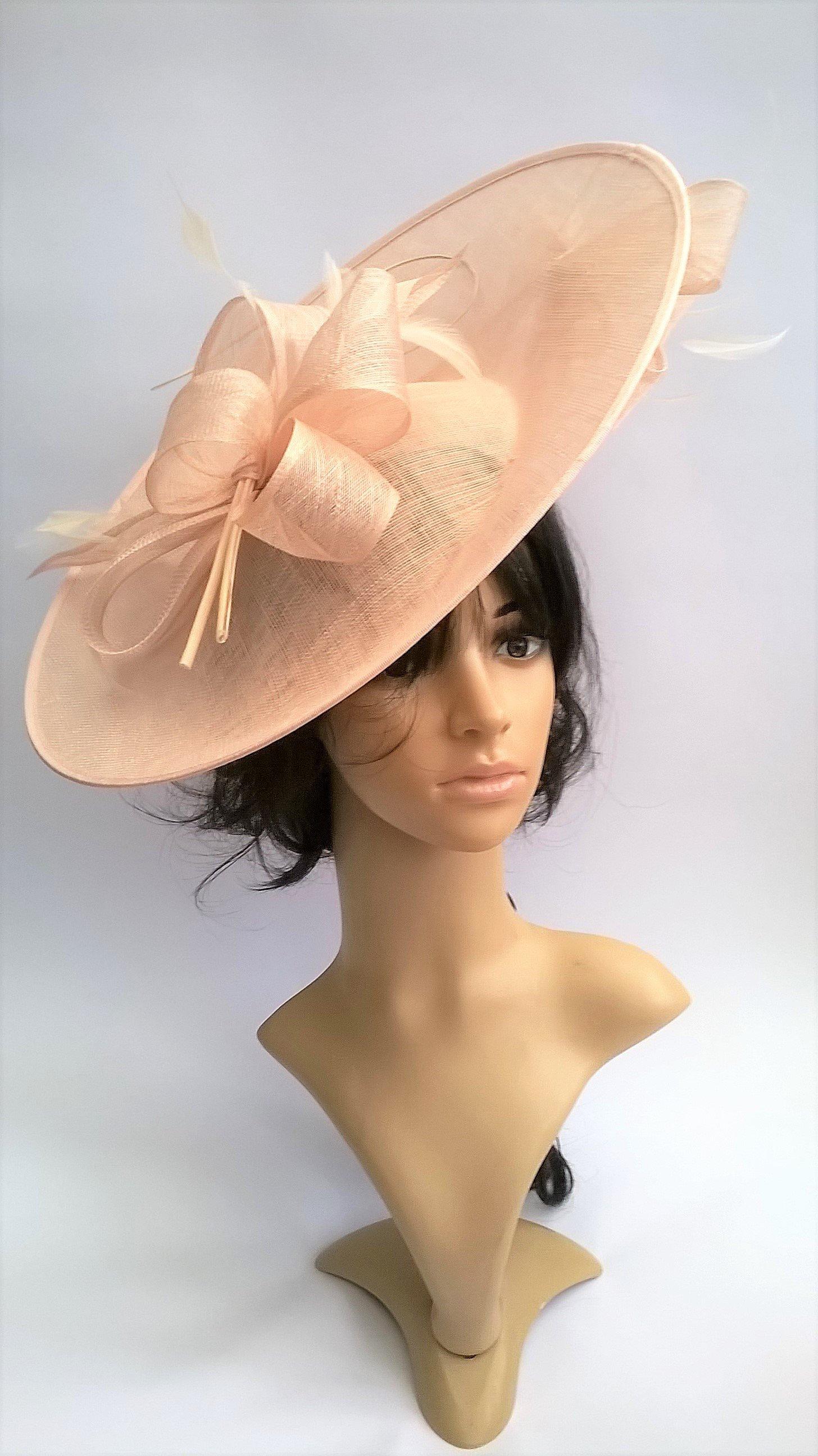 Belinda ..Stunning Sinamay Fascinator Hat on a Headband..Hatinator.Black 1b0adf467be