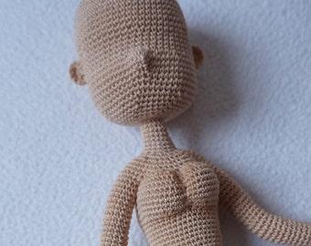 Realistic crochet doll body pattern