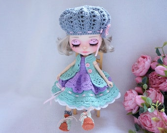Blythe doll joints outfit crochet pattern ( include all shown in photo)