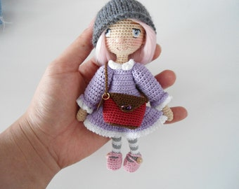 Little girl with pretty outfit crochet pattern