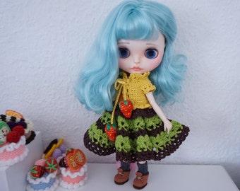 Blythe clothes crochet / Bolero and lace dress * Ready to ship*