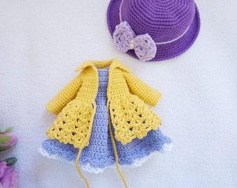 Blythe doll joints body outfit crochet pattern