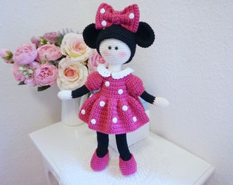 Tilda doll with Minnie outfit crochet pattern