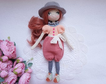 Crocheted doll with outfit / doll handmade