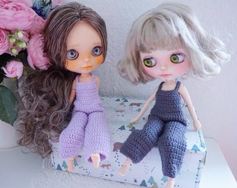 Blythe jumpsuit crochet pattern / doll clothes / Blythe doll clothes