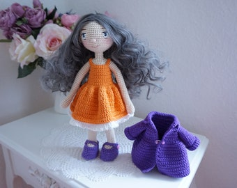 Doll crochet with outfit pattern