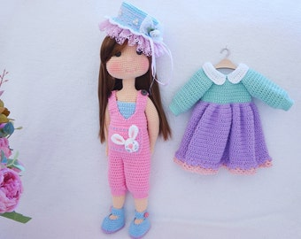 Pretty doll with outfit crochet pattern ( not include hat)