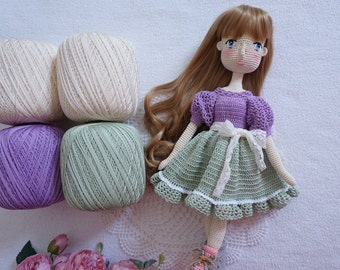 4x 100g Mercerized cotton / beautiful yarn colours for your crocheting project