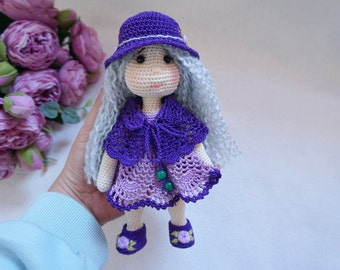 Pretty doll with outfit crochet pattern ( not include process of embroidered flower)