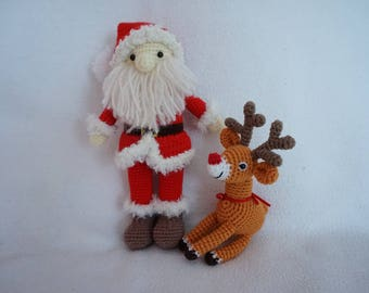 Santa and Raindeer crochet pattern