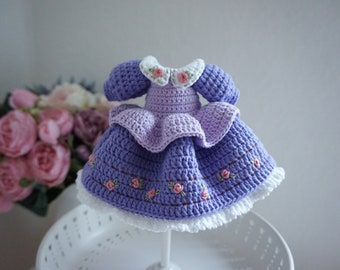 Blythe dress crochet pattern / dress for doll 25-30cm tall (not include bag and embroidery flower process)